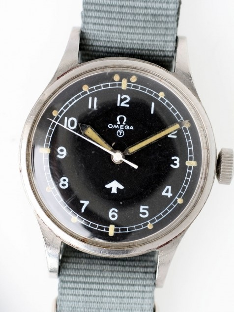 Omega 1953 RAF Pilots' Watch with Military Issue. Image: Corr Vintage Watches.