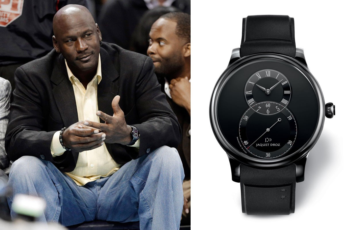 Michael Jordan wearing a Jaquet Droz Grande Seconde Ceramic